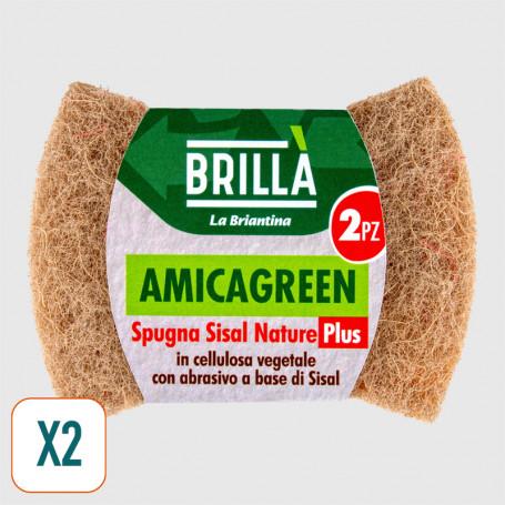 Spugna ecologica Amicagreen Sisal Nature Plus - 2 pz