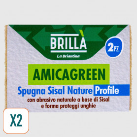 Spugna ecologica Amicagreen Sisal Nature Profile - 2 pz