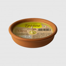 Fiaccola alla citronella in terracotta - Diametro 11 cm