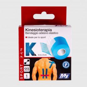 Bendaggio elastico per kinesioterapia - 5 m x 5 cm