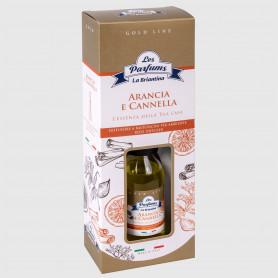 Diffusore a bastoncini Gold Line - Arancia e Cannella - 125 ml