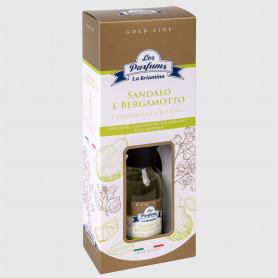Diffusore a bastoncini Gold Line - Sandalo e Bergamotto - 125 ml