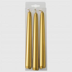 Candele Coniche Oro - 3 pz