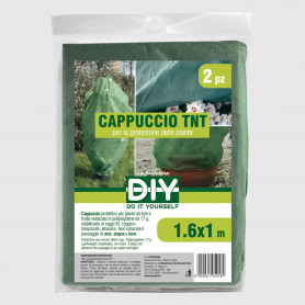 Cappuccio TNT verde 1,6x1,0 m - 2 pz