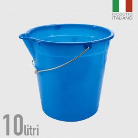 Secchio in polietilene con becco 10 litri