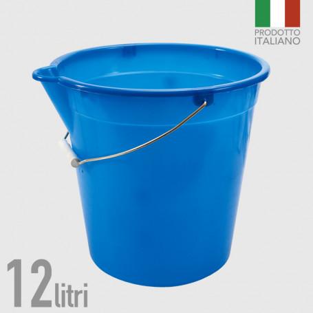Secchio in polietilene con becco 12 litri