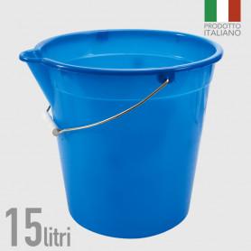 Secchio in polietilene con becco 15 litri