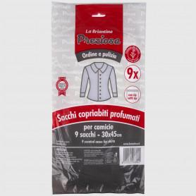 Sacchi copriabiti profumati per camicie - 30x45 cm - 9 pz