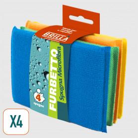 Spugna Microfibra Furbetto - 4 pz