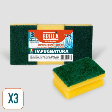 Spugne Abrasive Impugnatura - 3 pz