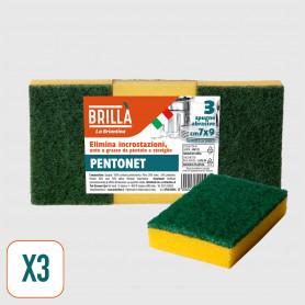 Spugne Abrasive Pentonet 7x9 cm - 3 pz