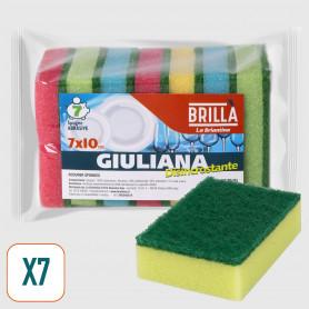 Spugne colorate Giuliana 7x10 cm - 7 pz