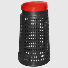 Cestino trespolo - Rosso - 110 litri