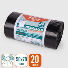 Sacchi Pattumiera - Mezzosacco - 50x70 cm - 20 pz