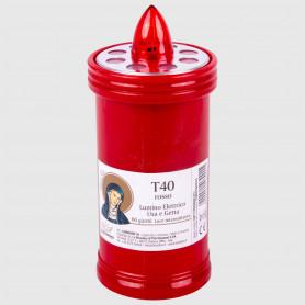 Lumino elettrico T40 rosso - 60 giorni