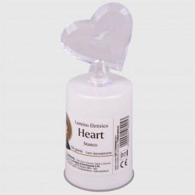 Lumino elettrico Heart bianco - 150 giorni