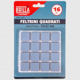 Feltrini quadrati in EVA - 16 pz - 22x22 mm