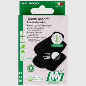 Cerotti Eco Compostabili Bambù classici assortiti - 25 pz