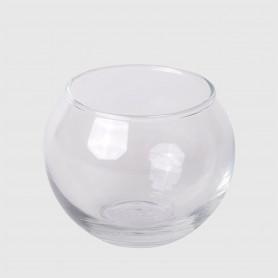 Portacandela Agosta in vetro - diam. 6,5 cm - h. 5,5 cm