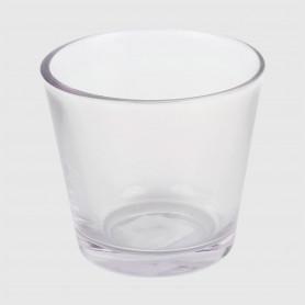 Portacandela Alme in vetro - diam. 7 cm - h. 6,5 cm