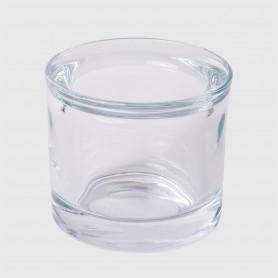 Portacandela Affi in vetro - diam. 6 cm - h. 6 cm
