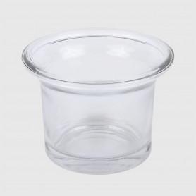 Portacandela Andria in vetro - diam. 6,5 cm - h. 4,5 cm