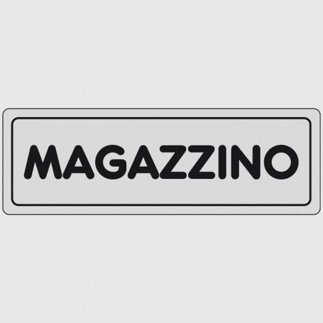 Cartello segnaletico adesivo - Magazzino
