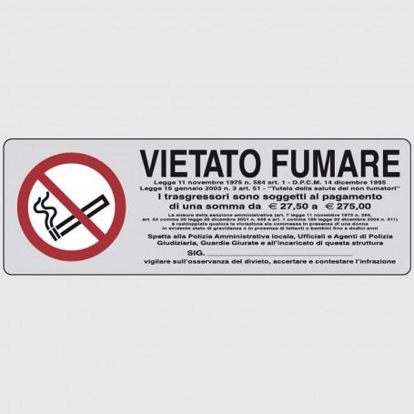 Cartello segnaletico adesivo - Vietato fumare