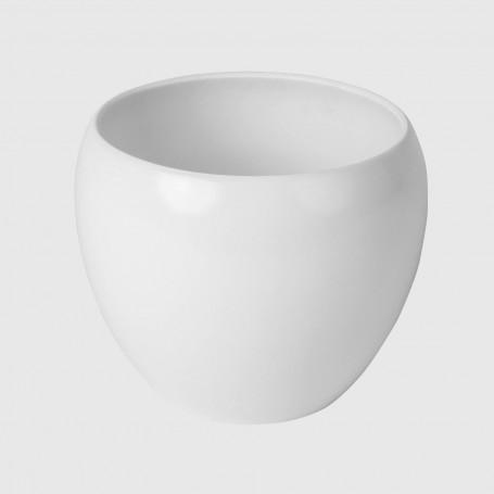 Vaso tondo Ocre - bianco