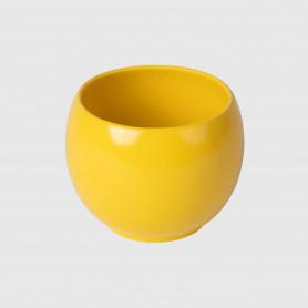 Vaso tondo Onore - giallo