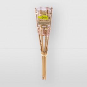 Fiaccola da giardino in bamboo con contenitore in vetro - h. 30,5 cm