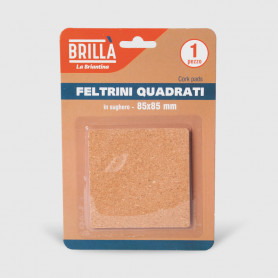 Feltrini quadrati di sughero - 1 pz 85x85 mm