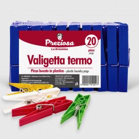 Pinze bucato Valigetta termo - 20 pz