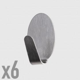 Ganci adesivi ovali piccoli - 6 pz