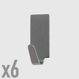 Ganci adesivi rettangolari piccoli - 6 pz