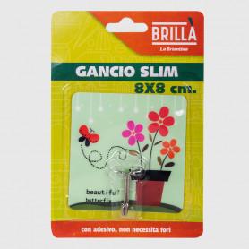 Gancio adesivo Slim - 8x8 cm