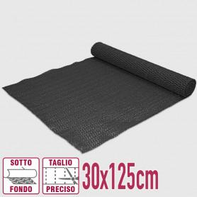 Sottofondo antiscivolo Special Bar nero - 30x125 cm