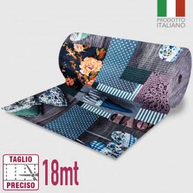 Passatoia Inkjet Patchwork Love - 52cm x 18mt