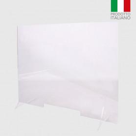 Barriera protettiva autoportante plexiglass