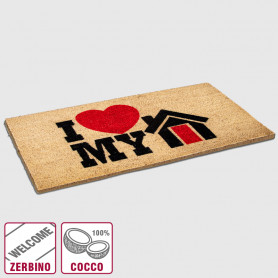 Zerbino cocco Love my home - 40x70 cm