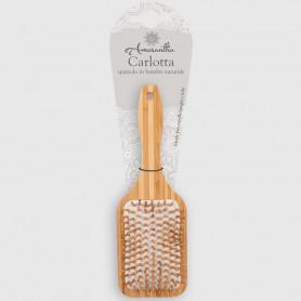 Spazzola capelli rettangolare Carlotta in bambù