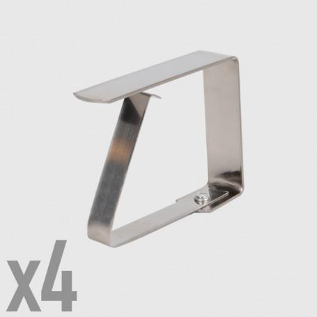 Fermatovaglia in metallo - 4 pz