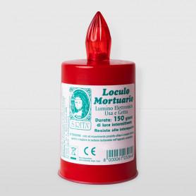 Lumino loculo mortuario Rosso 150 gg