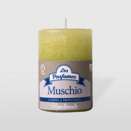 Moccoletto Handmade - Muschio - altezza 6 cm