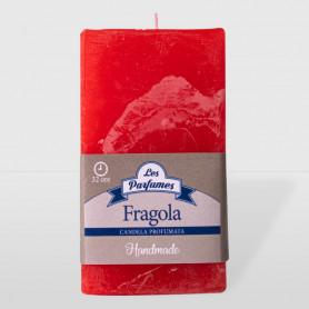 Moccolo quadrato Handmade - Fragola - altezza 10 cm