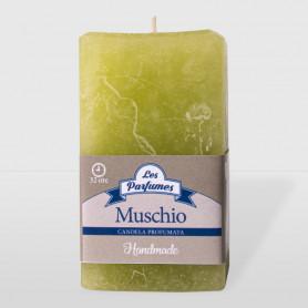 Moccolo quadrato Handmade - Muschio - altezza 10 cm
