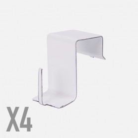 Supporti in metallo per serramenti - Bianchi - 4 pz