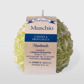 Candela Handmade Sfera di Rose - Muschio