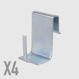 Supporti  in metallo per serramenti - 4 pz