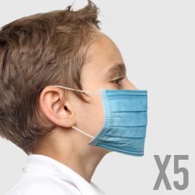 Mascherina Chirurgica Bimbo - Azzurra - 5 pz